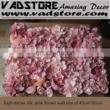 pink artificial rose and hydrangea &poeny silk flower wall for wedding backdrop or lawn/pillar road lead decoration
