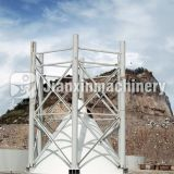 The structure and working principle of portable cement silo