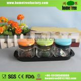 Hot sale small spice glass jar3 pcs