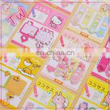 China stock stationery supplies ,Discount any shaped design cute die cut sticky memo pads with custom logo