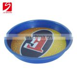Personalized plastic round restaurant tray salver for dish in cheap price