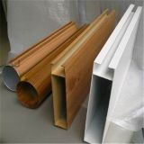 Wood grain aluminum square pipe