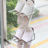 Metal Display Slippers Rack Multifunction Wall-mounted Shoe Bracket Slipper