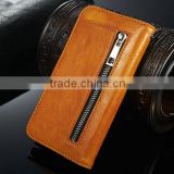 2 in 1 Crazy Horse Leather Wallet Case for Samsung Galaxy S6 Case Cover