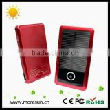 Cheap bulk buy solar led flashlight mini portable solar charger for samsung function with 2000mA/3000mA,hottest mobile charger
