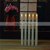 wholesale white candle ivory color battery operated flameless cemetery white led taper candle                                                                         Quality Choice