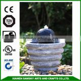 garden decoration fiberglass rotating ball water fountain