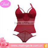 2016 sexy young ladies red teddies lingerie /corsets                                                                         Quality Choice