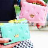Hot Sale Colorful Purse For Girls Korean Design Crown Wallet