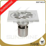 SSFY401A Bathroom and toilet square stainless steel cast iron floor drain