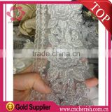 2016 factory selling white color lace cheap 9cm china voile lace trimming lace trim for sweater and wedding dress