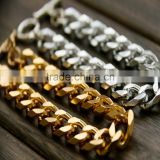 2016 Golden Aluminum Curb Chain Bracelet