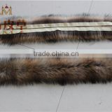 The factory wholesale and retail Long Hair Genuine Nature Raccoon Fur Trim Strips Collar