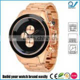 trandy fancy black bezel coating PVD rose gold luxury polished Watches
