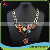 Europe big brand jewelry women rhinestone titanium necklace for wedding,party and gifts