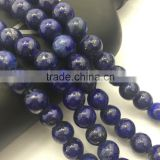 2.0mm Large Hole Hot Selling Round Lapis Lazuli Gemstone Loose Beads Approximate 15.5 Inch