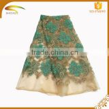 custom beautiful softextile and stretch african Voile Fabric chemical embroidery tulle lace fabric wholesale