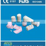 Within 1hours quick reply white rolled surgical elastic crepe bandage with 100% cotton material