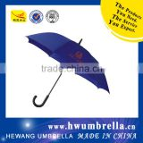 Black Coated Shaft Plastic Curved Handle Two Layer Straight Golf Umbrella