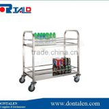 2 Tier Metal Folding Kitchen Island Trolley Storage Dining Food Cart