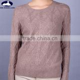 100% Mongolian Cashmere Cable Sweater for Women CSW15042810L