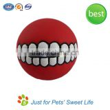Sweet Soft Rubber Squeaky Dog Teeth Ball Toy                                                                         Quality Choice