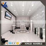 Cheapest price Good quality Crystal white mfc board marble reception desk
