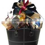 Small wholesale PU/PVC hand basket new storage basket gift basket leather gift basket basket