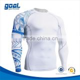 Wholesale high quality Custom sublimated camo lycra boys blank rash guards