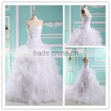 Designer Puff Organza Layered Real Sample Discount Affordable Wedding Dresses Wedding Gown LTG-013