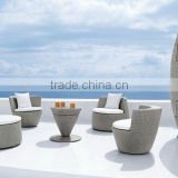 White Outdoor Chair Bullet Style - Exterior Rattan Furniture