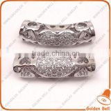 BJ4530 tube pave beads, micro perforated tube jewerly