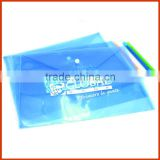 Recyclable Plastic Envelope for Document/PVC Button Closure Document Holder Bag