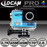 Big discounts!!! LDCAM PRO4 Ultra HD 2.7K/4K Video 170 degrees Wide Angle Sports action Cam 2-inch Screen 1080p 60fps