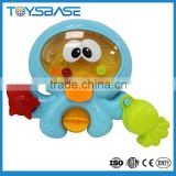 Plastic baby Octopus bath set bath toy storage