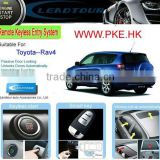 Auto Door Remote Control System Keyless Push Button Start System with Upgrade Car Alarm Systm for Toyota RAV4