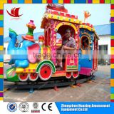 outdoor kids electric mini track elephant train roller coaster amusement game rides machine