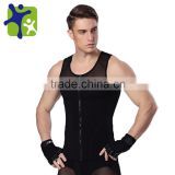 Men Body Shaper with zipper vest, Male slimming sport vest ,breathable quick dry vest for man NY044