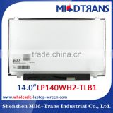 china laptop parts wholesaler! 14.0 inch laptop lcd display for LP140WH2-TLB1 replacement