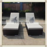 double poolside outdoor sun loungers (F81)