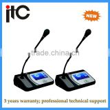 Digital Conference System Chairman Unit conference table microphone with IC Card