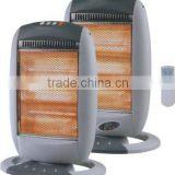 high quality the new wide angle oscillating halogen heater remote control with GS CE RoHS