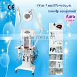 AU-2008 14 in 1 Multifunctional high frequency facial machine uv tool sterilizer skin care machine