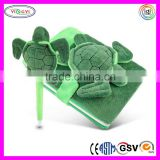 C336 Plush Soft Case Sea Turtle Notebook and Pen Set Soft Case Notebook