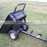 800lbs ATV tipping plastic trailer and dump cart
