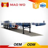 China hot sale tri-axle 40ft 50tons flat deck container semi truck trailer with container locks