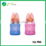 Hot Sale Popular Colorful silicone covered protective glass bottles/silicone bottel sleeve