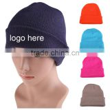 High Qulity Plain Purple 100% Acyilc Knit Adult CC Beanie Hat