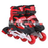 2017 new style high quality PU 4 wheels Adjustable roller skates,flashing kid's skate