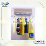 Home accessories plastic multi-purpose drying racks folding telescopic racks wall mounted clothes hanger rack